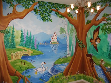 Enchanted Forest Wall Mural tree and forest themed murals mural magic