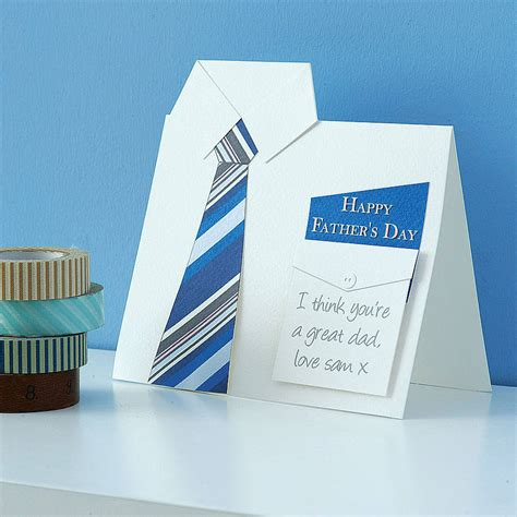 Handmade Fathers Day Card - handmade shirt and tie s day card happy