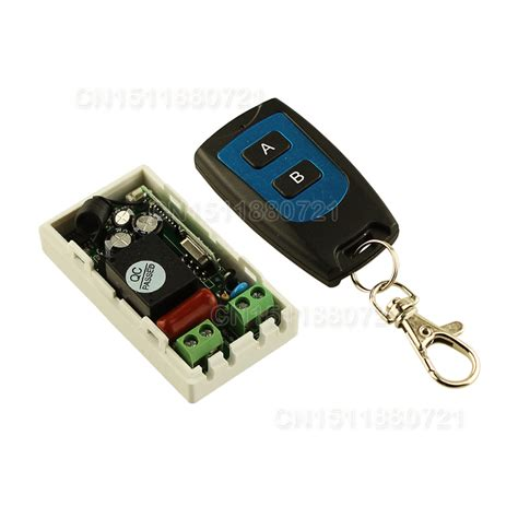1 Receiver 5 Transmitter 3 Button best price ac 220 v 1ch wireless remote switch system receiver transmitter 2 buttons