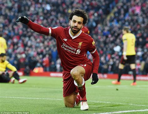 A Place Liverpool Liverpool 5 0 Watford Mohamed Salah Nets Four In Rout Daily Mail