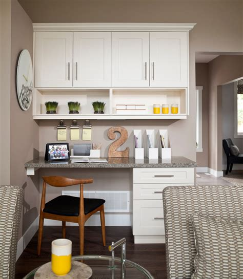 Small Desk For Kitchen Mid Century Modern Suite Hstead Transitional Home Office Vancouver By I3 Design