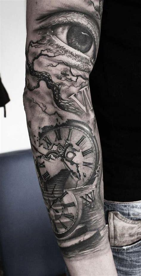 tattoo eye sleeve eye clock stairway sleeve best tattoo ideas designs