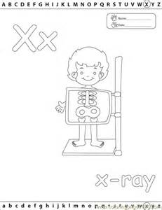 Coloring Pages X Xray Edu Education &gt Alphabets  Free Printable sketch template