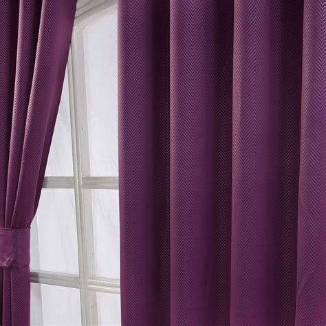 blackout chevron curtains herringbone chevron blackout thermal ready made curtains