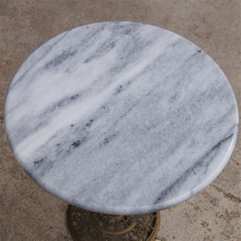 Marble Side Table Midcentury Retro Style Modern Architectural Vintage Furniture From Metroretro And Mcm Consignment