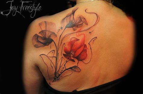 21 best flower tattoos images on pinterest floral