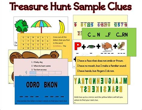 printable clue directions 17 best ideas about treasure hunt clues on pinterest