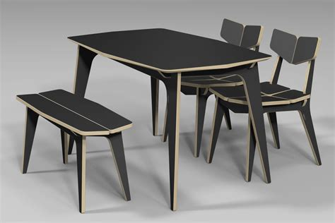 Plywood Dining Table Tetra Dining Table Cnc Router 3d Design Plywood Furniture 유창석 Www Joinxstudio