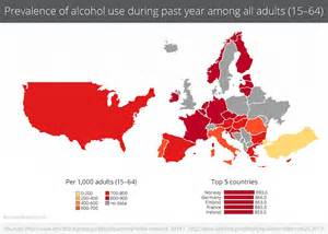 maps reveal how much drink and drugs countries really