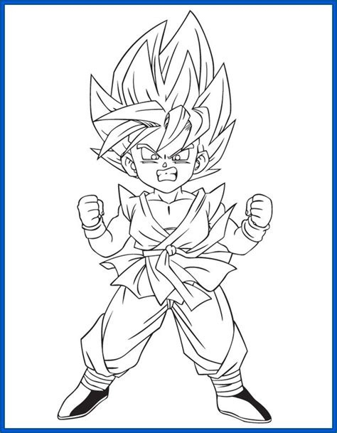 imagenes para colorear de dragon ball z dibujos de goku faciles related keywords dibujos de goku