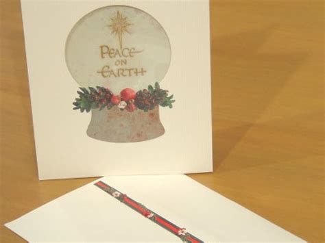how to make a snow globe card peace on earth snow globe card easy crafts and