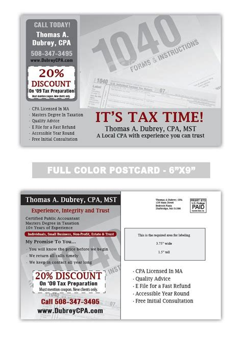 17 Best Images About Accounting And Tax Preparation Postcard Sles On Pinterest Advertising Tax Preparation Postcards Templates