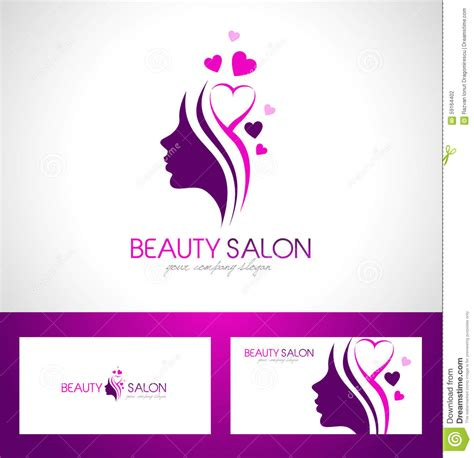beauty salon logo design stock vector illustration of
