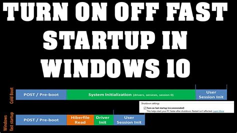 fast boat start up youtube how to turn on fast start up in windows 10 youtube