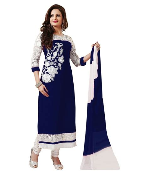 Dress Design Rs | jaydip blue cotton unstitched dress material available at