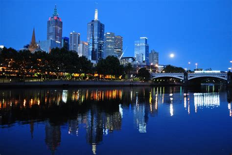 Free Melbourne melbourne skyline at dusk free stock photo domain
