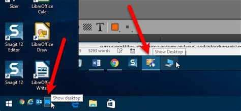 windows 7 bar at top of screen how to move the show desktop icon to the quick launch