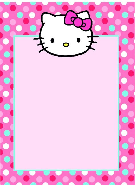 Hello Kitty Blank Invitations