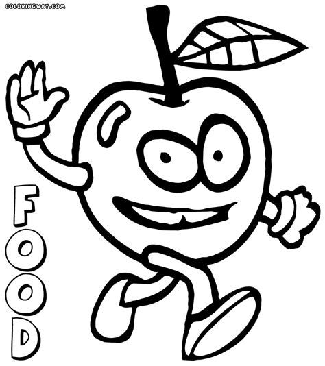 coloring pages of food with faces food with faces coloring pages coloring pages to