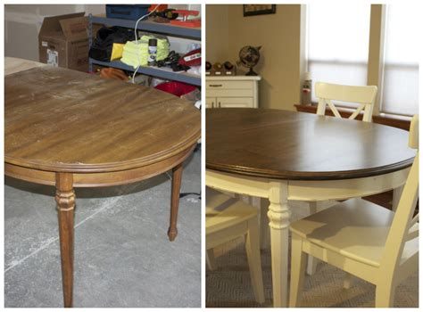 Refinish Kitchen Table Refinished Kitchen Table Why Not Give It A Try