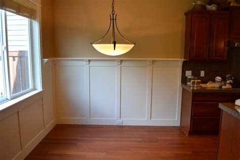 Ideas For Dining Room Table Decor by Craftsman Wainscot Craftsman Dining Room Portland