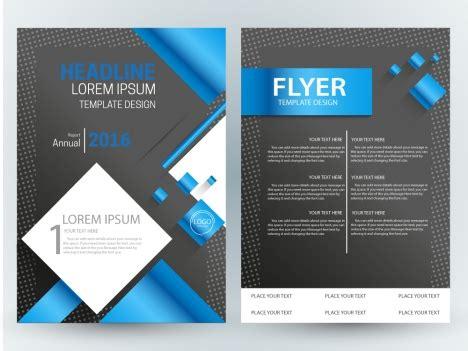 layout design cdr flyer template design with modern dark background vectors