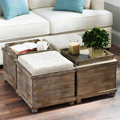 Coffee Table With Ottoman Seating Taupe Storage Ottoman Best Storage Design 2017