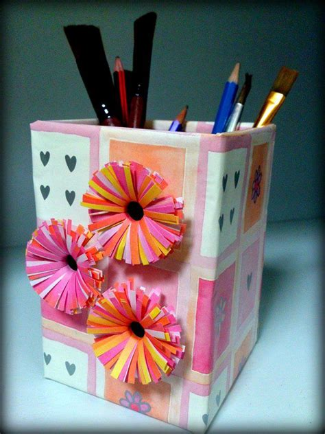 How To Make Pen Stand Using Paper - pen stand 500eco