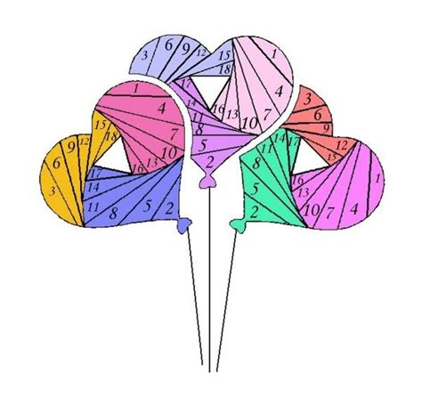 Free Iris Paper Folding Patterns - iris folding balloons projects to try
