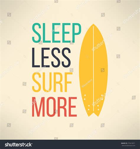 pattern surf graphic t shirt vector surf typography sleep less surf stock vector