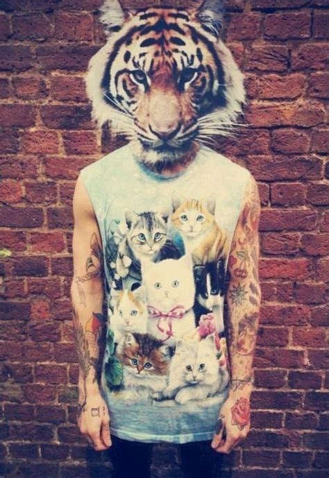 cat tattoo hipster image 1832486 by marky on favim com