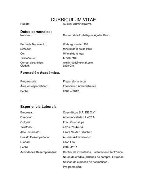 Modelo Curriculum Vitae Paraguay Curriculum Vitae