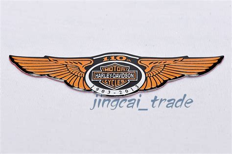 Sticker Harley Longhorn 12 Cm harley davidson 110 anniversary motorcycle aluminium emblem badge sticker decal
