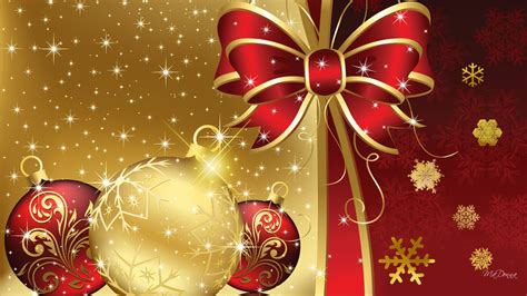 xmas wallpaper gold 1366x768 desktop wallpapers