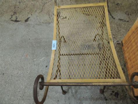 Wrought Iron Vanity Stool by Vintage Wrought Iron Vanity Stool