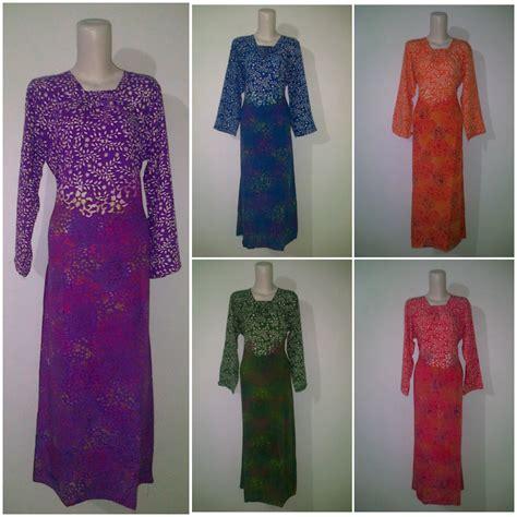 Longdress Santung Batik Cap Flora longdress batik cap pusat grosir baju batik modern