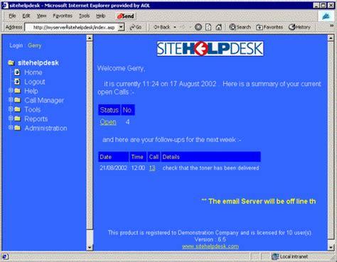 help desk call log sitehelpdesk the leading helpdesk software operator login