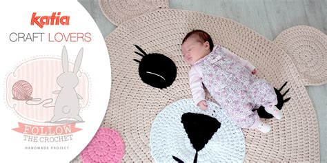 alfombra oso crochet craft lovers alfombra oso a ganchillo con katia big