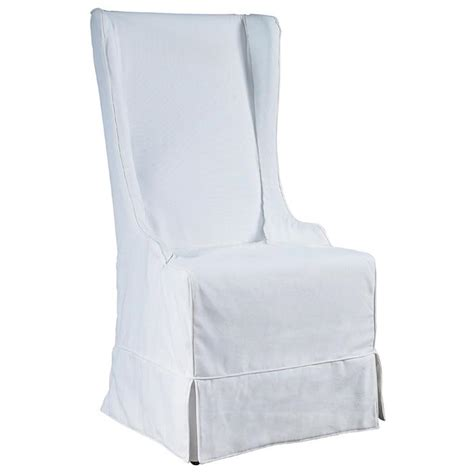 White Slipcover Dining Chair Atlantic Dining Chair Sun Bleached White Linen Slipcover Dcg Stores