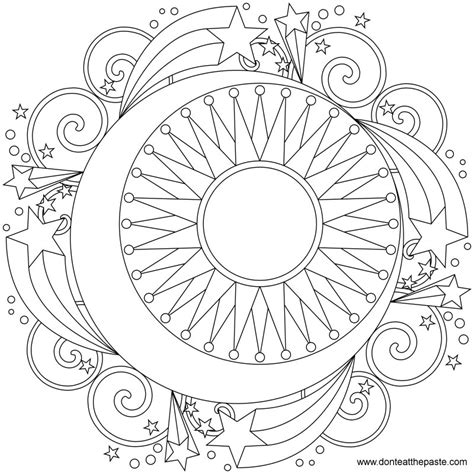 coloring pages for adults sun don t eat the paste star mandala to color
