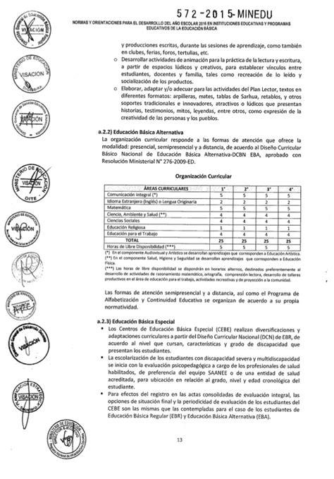 clima escolar primaria minedu 2016 norma t 233 cnica de orientaciones para el a 241 o escolar 2016 en