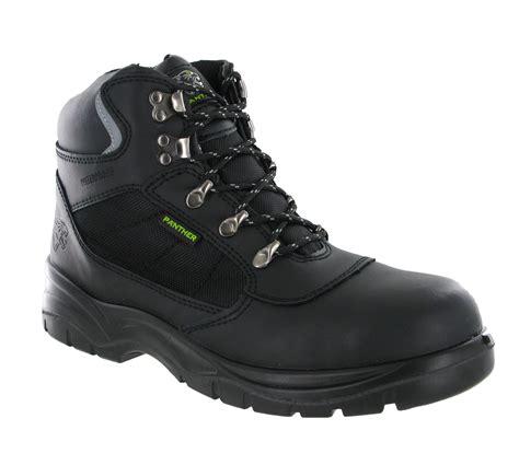 mens black steel toe work boots black waterproof parweld panther s3 steel toe cap mens