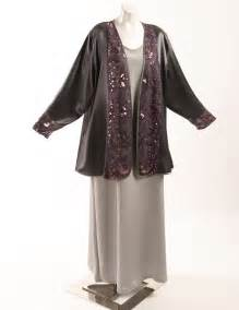 size mother   bride jacket gray satin rose sequin lace peggy lutz  size