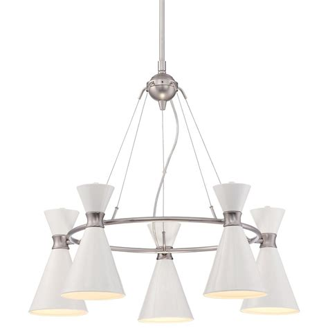 George Kovacs Chandelier George Kovacs Conic Brushed Nickel Chandelier P1825 44f Destination Lighting