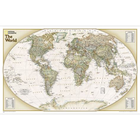 the way laminated national geographic reference map books world explorer executive wall map laminated national