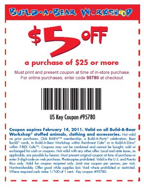 Build A Bear Gift Card Promo Code - 5 off 25 build a bear coupon who said nothing in life is free
