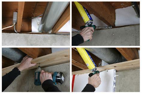 air sealing basement green basement renovation adding a home