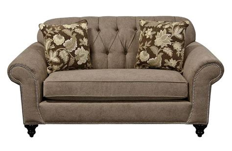 Suburban Furniture Nj by Loveseat With Nailheads And Tufted Seat Back