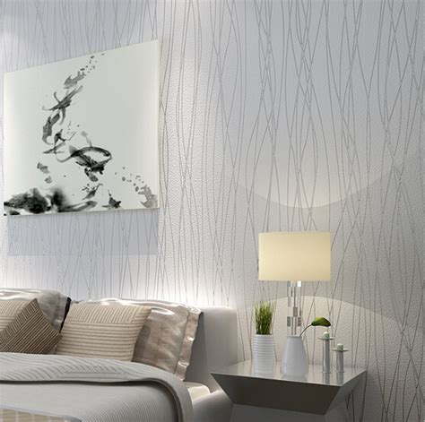 silver bedroom decorating ideas wallpaper 2015 new modern elegant stripes bedroom non woven silver