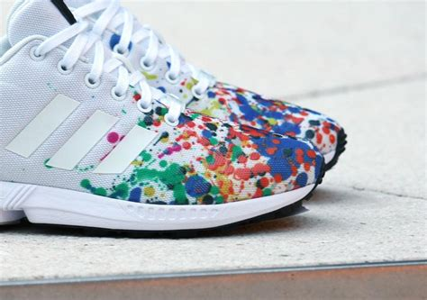 colorful addidas adidas zx flux color splash sneaker bar detroit
